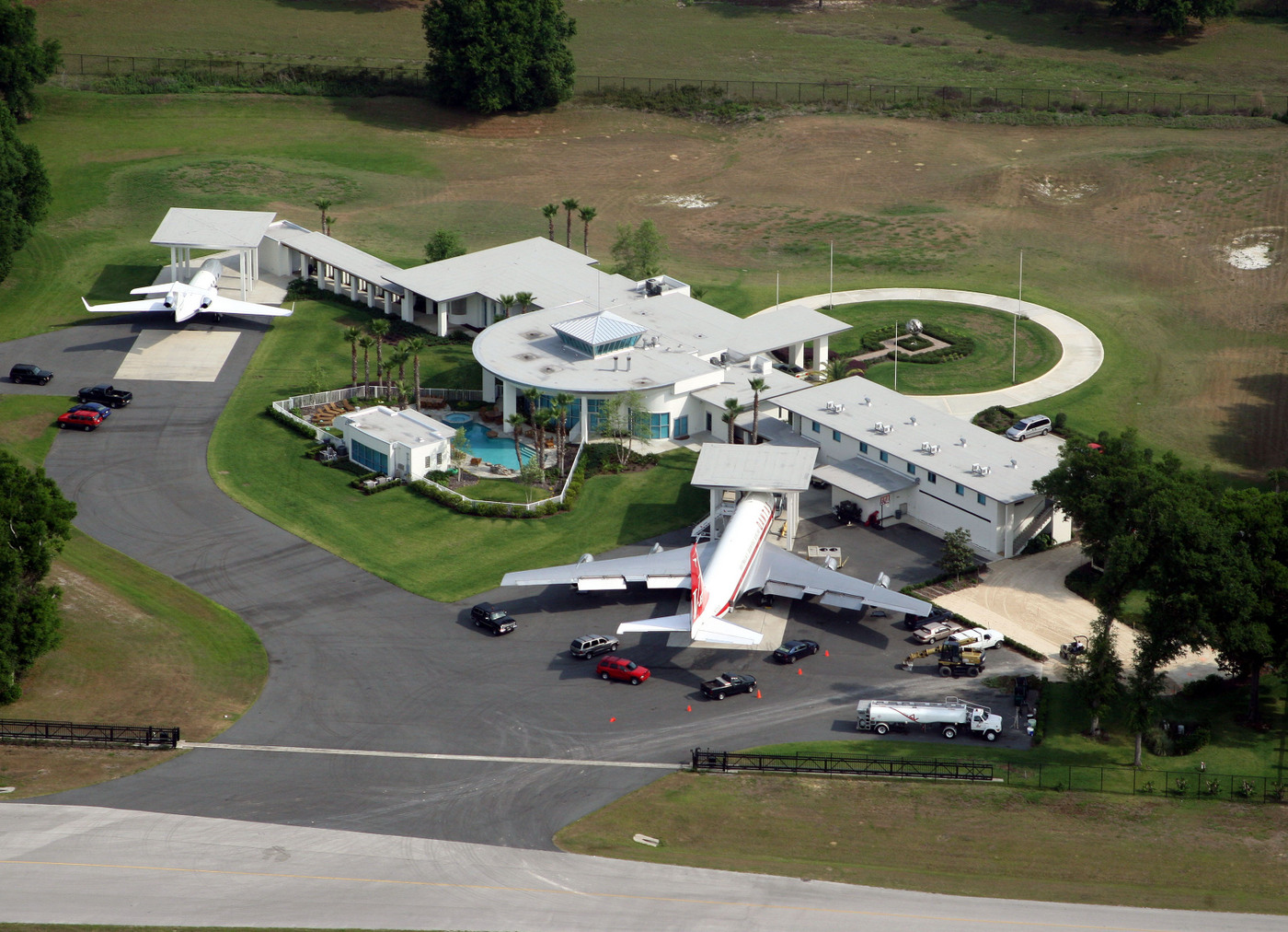 Actor John Travolta's airport home in Florida